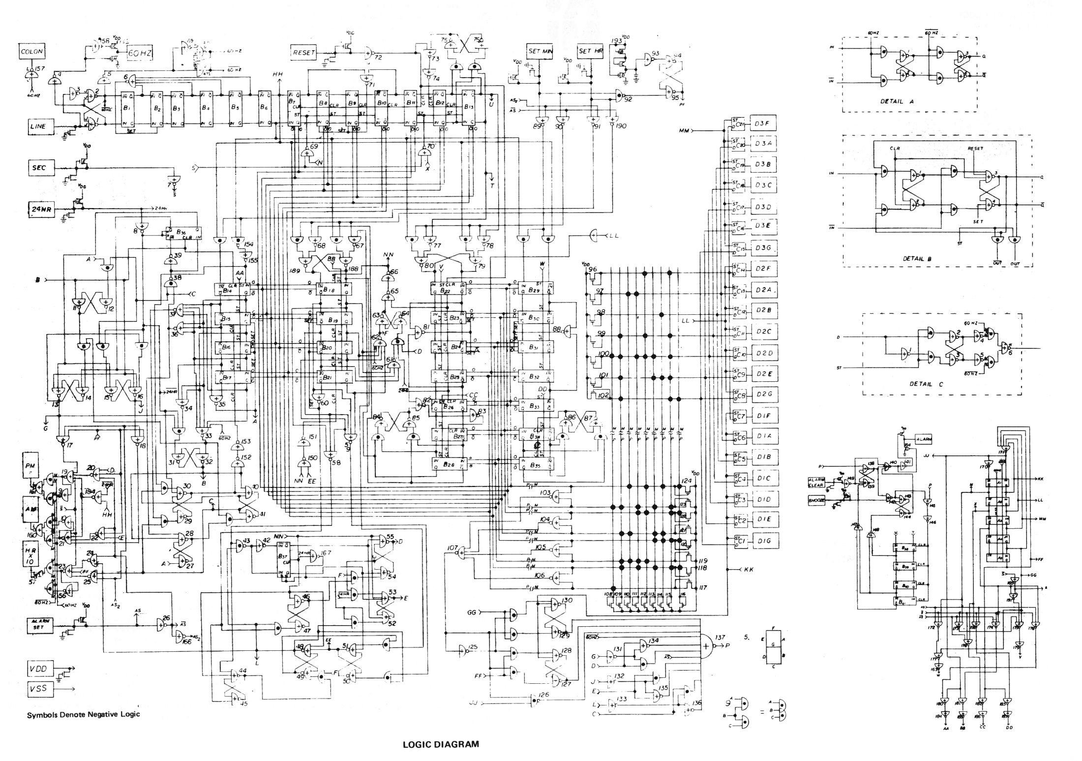 Vintage Digital Clock Circuits Pro Audio Design Forum Circuit Diagram Electronics Students Wiring Ami S1736 Logic In Large Format Https Images Iagram