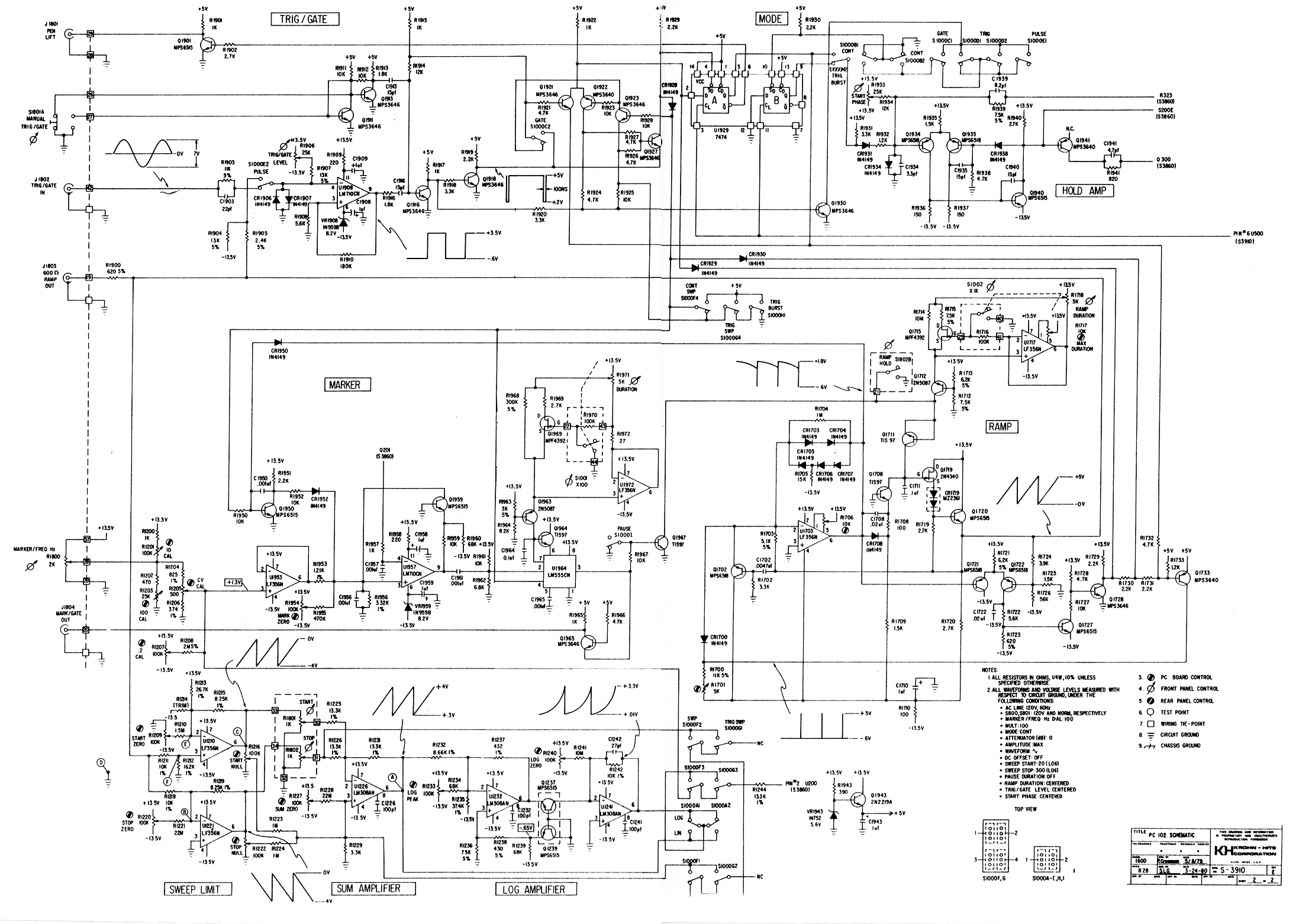 Function Signal And Sweep Generator Schematics Pro Audio Design Forum Wiring Diagrams Krohn Hite 1600 Schematic Sheet 2 Https Images Heet